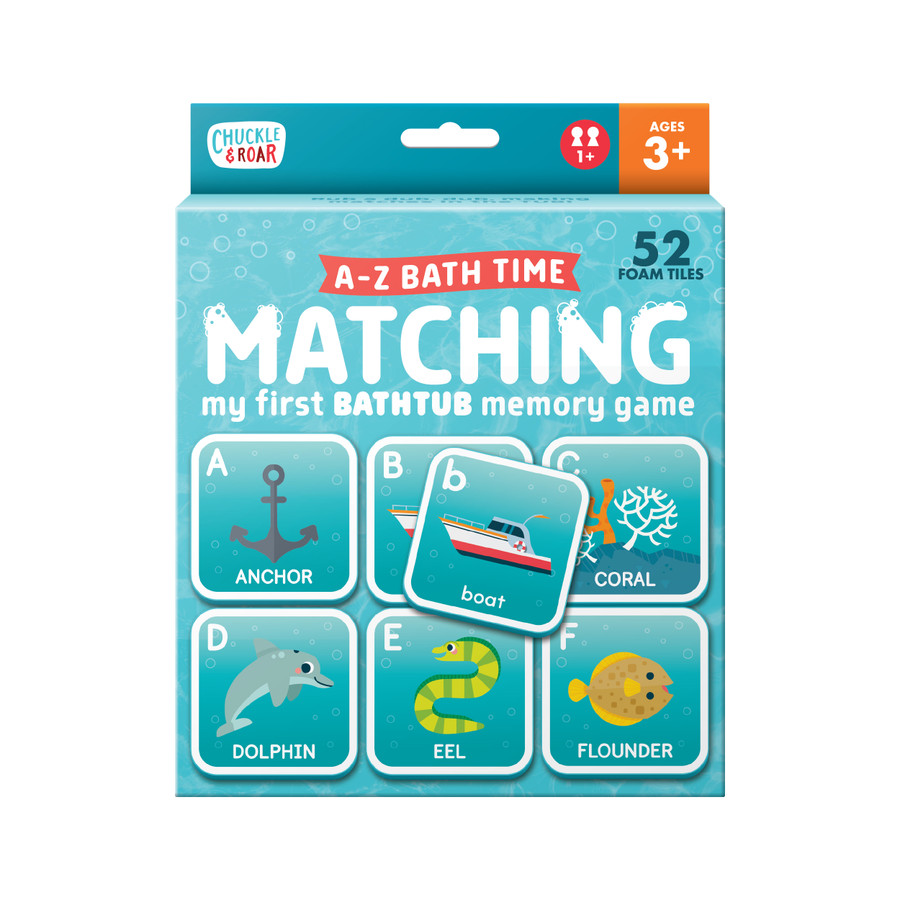A-Z Bath Time Matching- Floating Memory Game