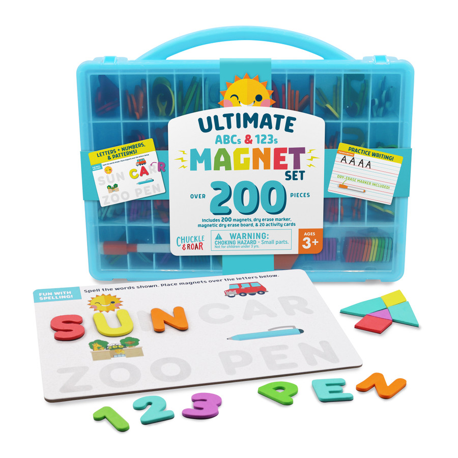 200+pc Ultimate Magnet Set- ABCs and 123s