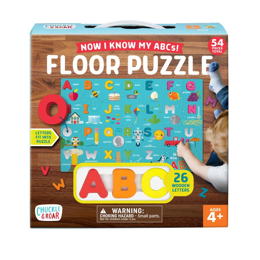 Now I Know My ABCs Puzzle- Wooden Alphabet Floor Puzzle