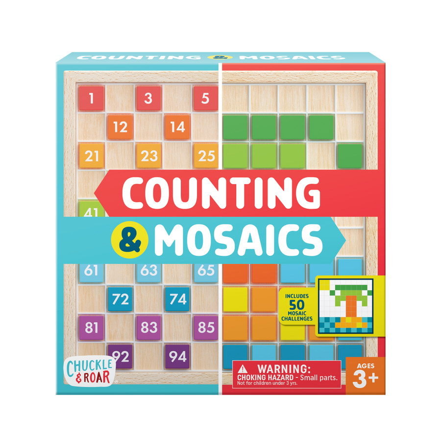 Counting and Mosaics- Montessori Learning Activity Board