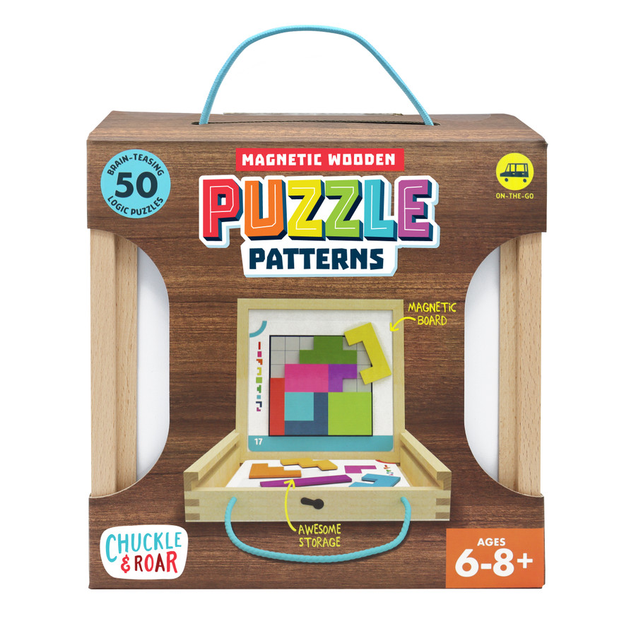 Magnetic Wooden Puzzle Patterns- Kids Logic Puzzles