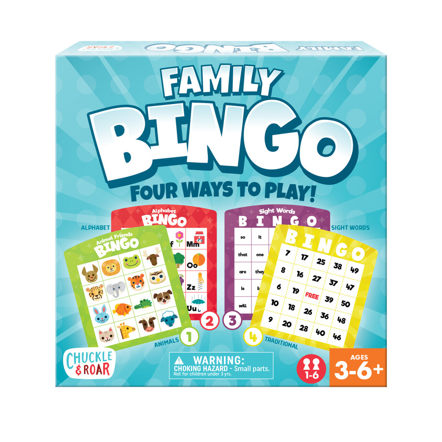 Family Bingo- Kids Educational Bingo Game
