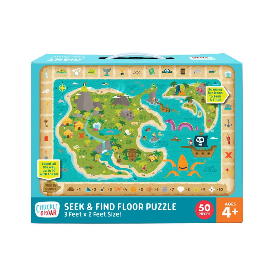 Seek & Find Treasure Map Jigsaw Floor Puzzle