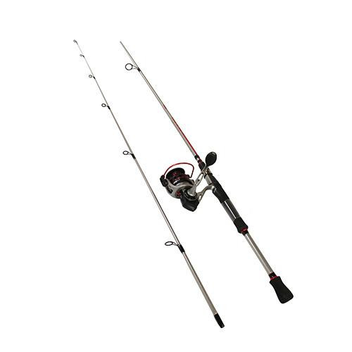 Zebco Quantum Drive Spinning Combo 30, 5 2:1 Gear Ratio, 7 2pc Rod, 6-12 lb  Line Rate, Fast Action, Ambidextrous