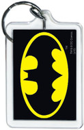 """DC Comics Batman Logo 3"""" x 2"""" Officially Licensed Lucite Double Sided Keychain"""