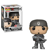 Gears of War Funko POP! Video Games Marcus Fenix Vinyl Figure #475. Measures approximately 3 3/4-inches tall. Comes packaged in a window display box. Ages 3 and up.
