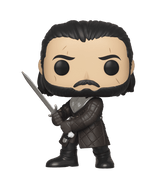 Season 8 of Game of Thrones is under way and the war for the Iron Throne rages on. Raise the banner for House Stark with a new Pop! Jon Snow and Pop! Rides: Jon Snow with Rhaegal.