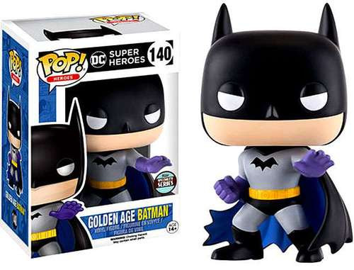 Funko POP! DC Universe Heroes Golden Age Batman Exclusive Vinyl Figure #140