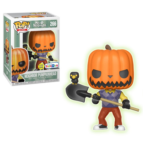 Hello Neighbor Funko POP! Games Neighbor Pumpkinhead Exclusive Vinyl Figure #266