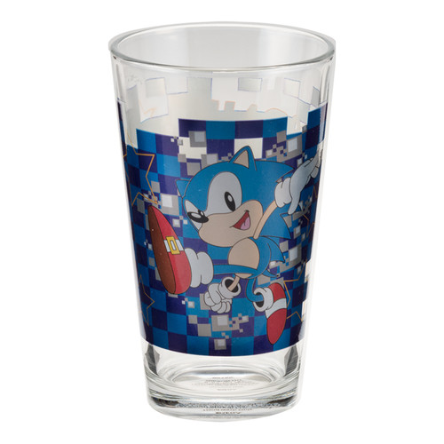 Sonic the Hedgehog 16 oz. Laser Decal Glass Set 2-Pack