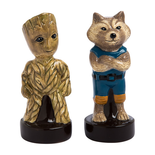 Guardians of the Galaxy Vol. 2 Little Groot and Rocket Raccoon Sculpted Ceramic Salt and Pepper Set