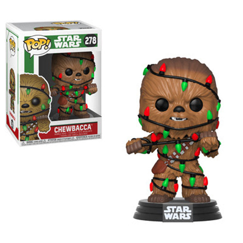 Celebrate the holidays with Darth Vader, legendary Jedi Master Yoda, Wookiee warrior Chewbacca, C-3PO and R2-D2. The Darth Vader Chase has a glow in the dark candy cane.  These Star Wars Holiday Funko Pop! Vinyl Figure  measures approximately 3 3/4-inches tall. Comes packaged in a window display box