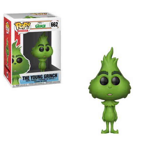 Pop! Movies: The Grinch - The Grinch hates Christmas! The whole Christmas season! Now, please don't ask why. No one quite knows the reason. Fortunately, this grumpy Grinch Pop! might have some explanations for his loathing of Christmas. The young Grinch Pop! might have some answers and Cindy-Lou Who and the loyal Max will do their best to keep the Christmas spirit alive. If you do bring the Grinch home, place him a safe distance from any holiday paraphernalia that he might be inclined to steal, destroy or eat.  The Grinch Movie The Grinch Pop! Vinyl Figure measures approximately 3 3/4-inches tall. Comes packaged in a window display box.