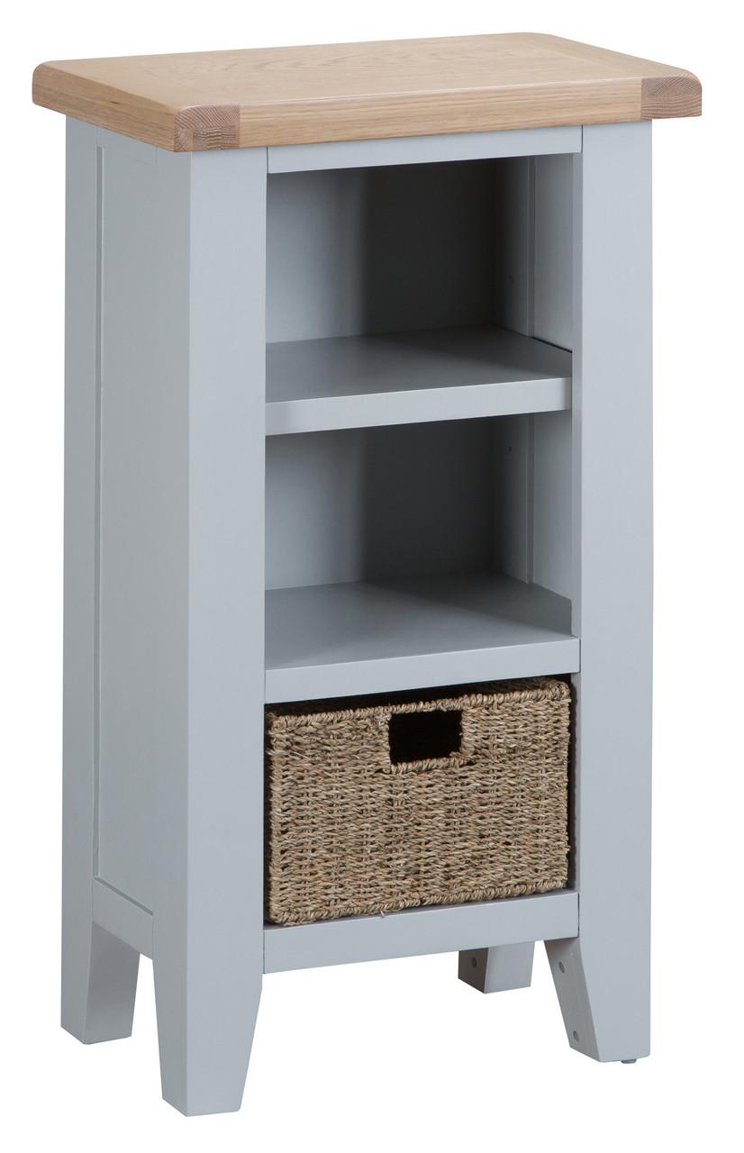 Rockingham Small Narrow Bookcase Painted Grey