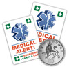 MEDICAL ALERT Stickers in 2 sizes