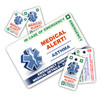 ASTHMA ICEcard Pack - 1 Card with 2 Key Rings & 2 Stickers