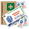 COELIAC ICEcard Pack - 1 Card with 2 Key Rings, 2 Stickers and a gift sleeve
