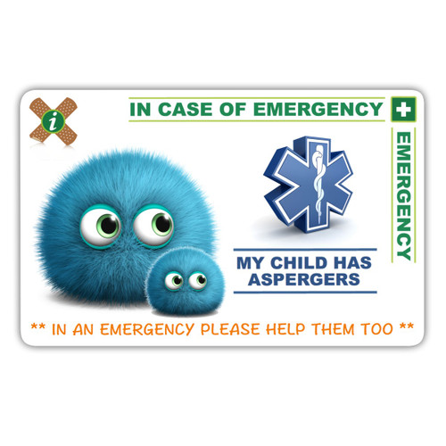 ASPERGERS Parent Card Front