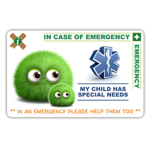 SPECIAL NEEDS Card Front
