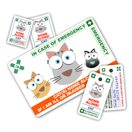 CAT design Pack - 1 Card, 2 Key Rings & 2 Stickers