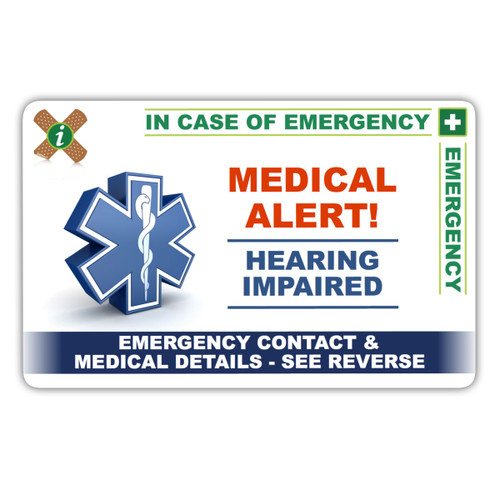 HEARING IMPAIRED ICEcard Front
