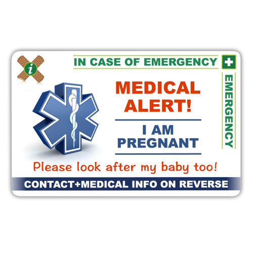 PREGNANT ICEcard Front