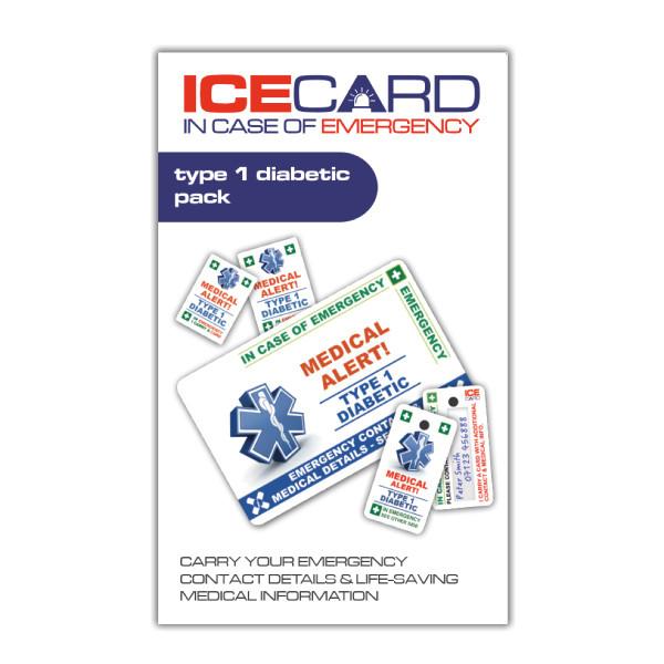 TYPE 1 DIABETIC ICEcard Pack
