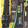 ROK Straps Adjustable Commuter Reflective Strap 28 x 3/8 in Black