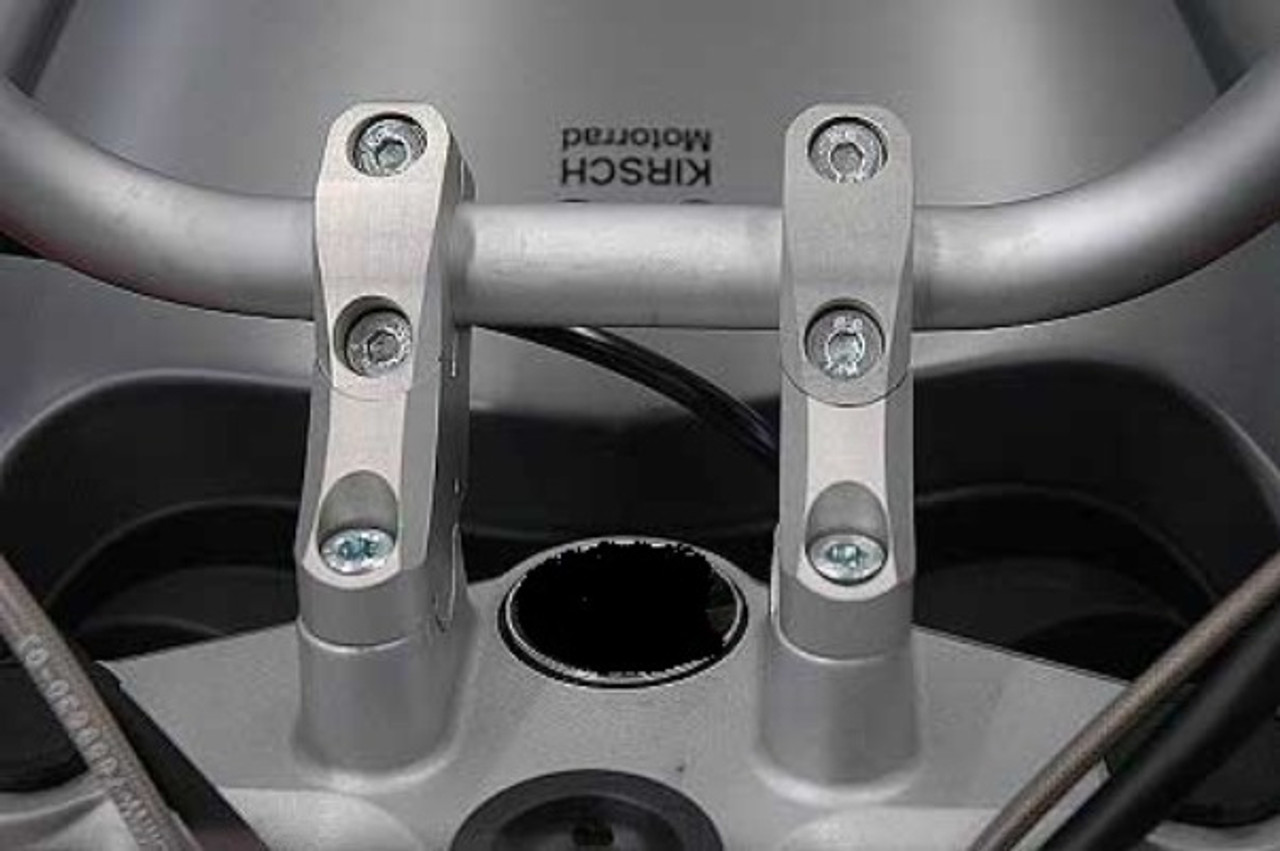 "Handlebar Riser Bar Backs moves 2"" diagonal in SILVER for BMW F800ST ABS"