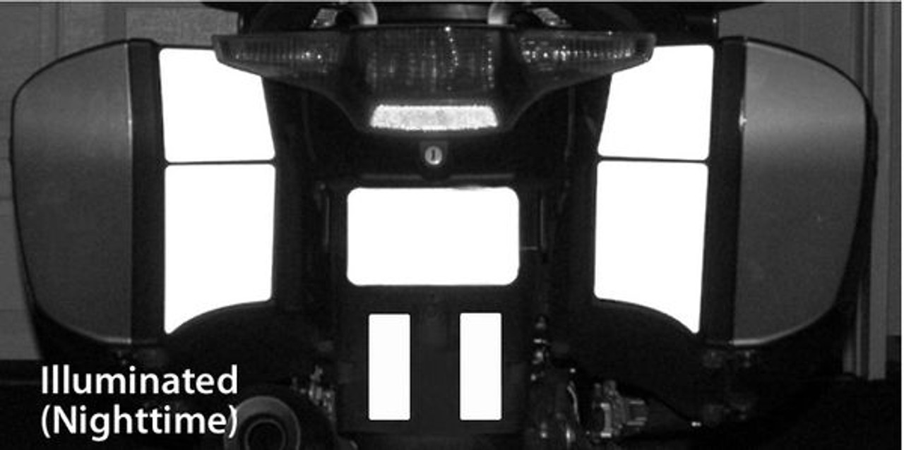 Inside half Side Bag Reflective Tape kir for BMW R12RT (05-13) R1200ST K12GT 06+ K13GT