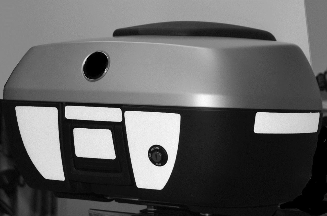49 Liter Top Case Black Reflective Tape kti for BMW R12RT (05-13) K1200GT K13GT
