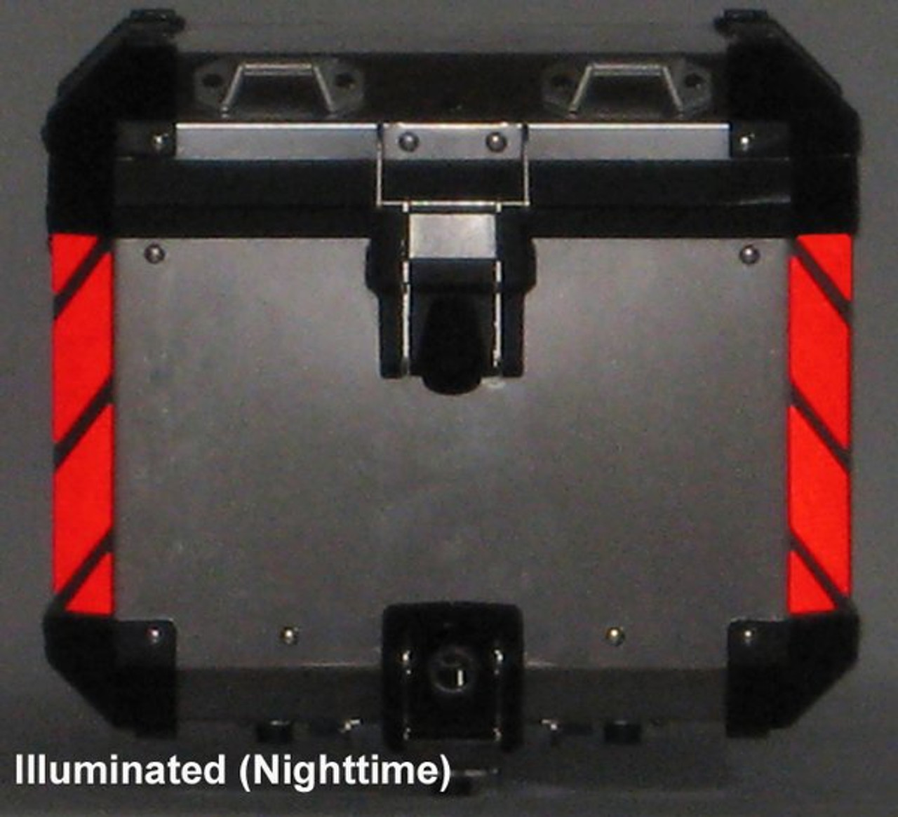 """""""Corners"""" RED Reflective Tape kit for BMW R1200GS Adventure Trunk"""