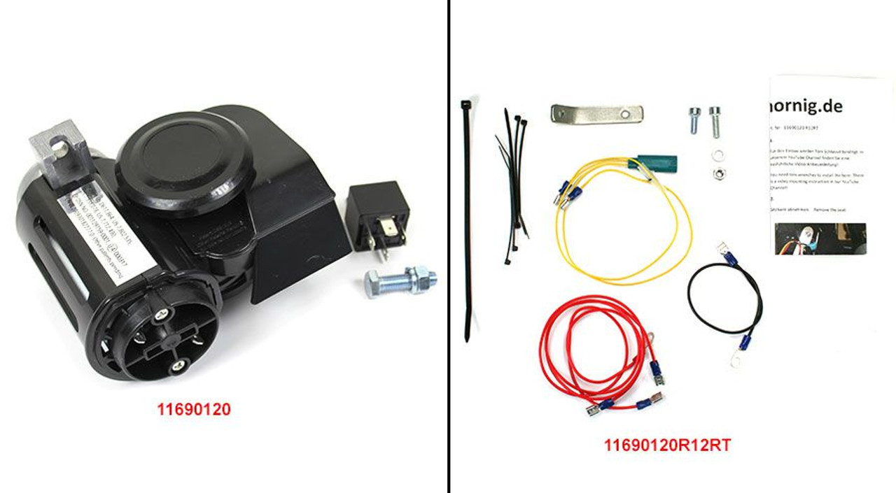 Nautilus Horn kit for R1200RT 2005-2013 Very Loud - Includes mounting kit