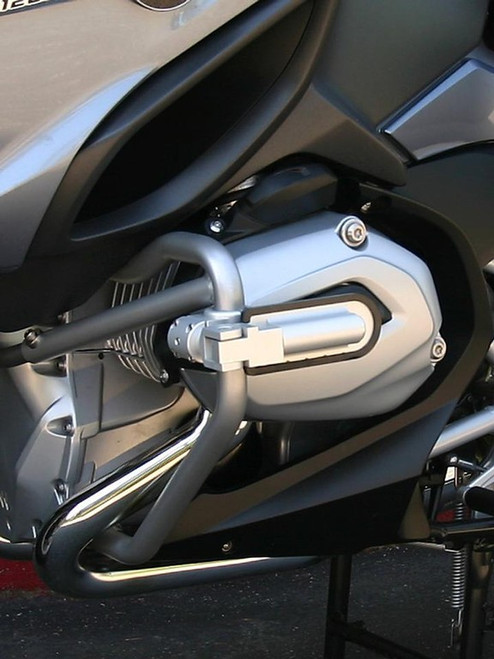 Engine Protection Guard & Highway Pegs Combo Package Silver for BMW R1200RT W 2014+