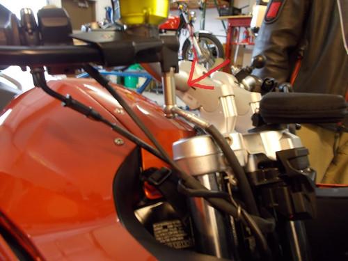 "Brake line appx 2""extension pipe for handlebar risers"