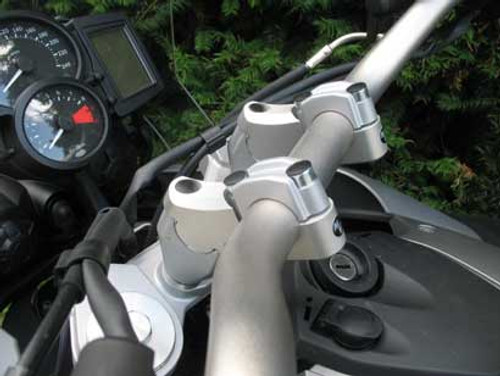 Handlebar Risers - 50mm Rise Brake line adapter included for BMW F700GS 2