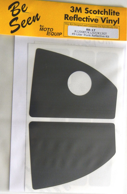 49 Liter Top Case Black Reflective Tape kti for BMW R12RT (05-13) K1200GT K13GT
