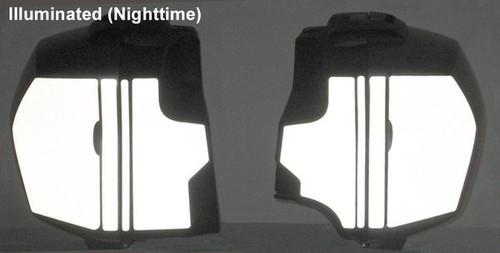 Side Bag Black Reflective Vinyl Tape Kit for BMW R1200RS R1200R 15+