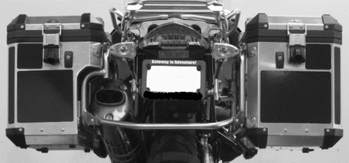 Alum Adventure Saddlebag Black Reflective Tape kit for BMW R1200GS 2005-2012