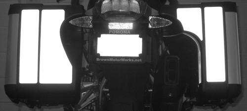 Vario Saddlebag Black Reflective Tape kit for BMW R1200GSLC 2013+
