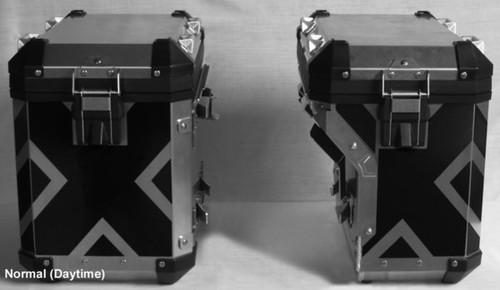 Saddlebag X Pattern BLACK Reflective Tape kit for BMW R1200GSLC 2014+ Adventure