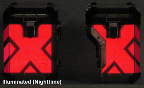 X Pattern RED Reflective Tape kit for BMW R1200GSLC 2014+ Adventure Saddlebag