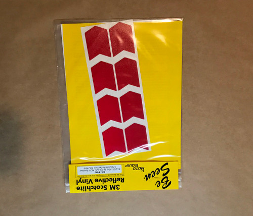 """Side box """"Chevrons"""" RED Reflective Tape kit for BMW R1200GS Adventure"""