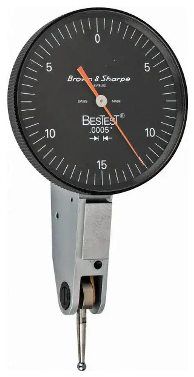 "Brown /& Sharpe BesTest 599-7031-5 .0005/"" .030/"" 1-1//2/"" Dial Test Indicator #51734"