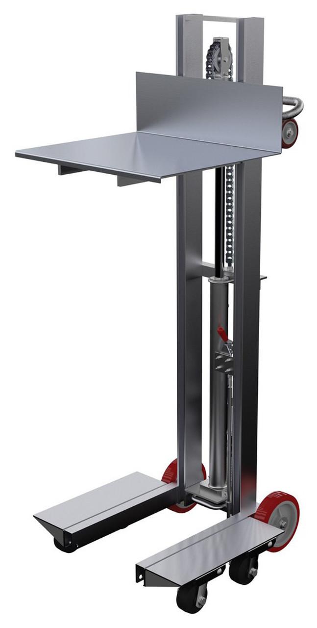 Vestil Lite Load Lift Aluminum 24 X 20 Platform 6 1 8 To 54 1 8 Service Range Foot Pump Operation Allh 2420 4sfl Penn Tool Co Inc