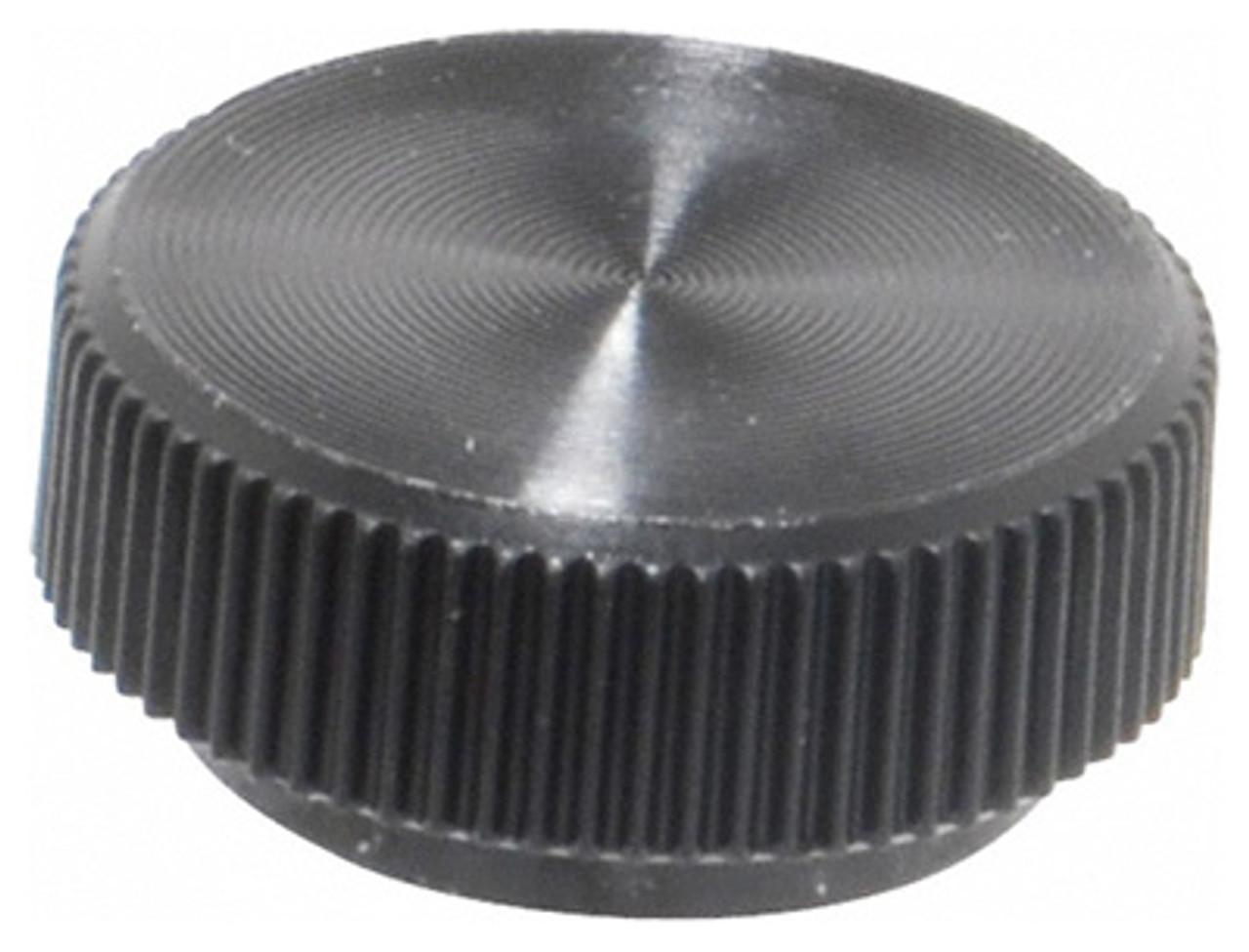 "1//2-13 Blind Tapped Hole TDK-4B 2/"" Black Oxide Steel Domed Knurled Knob"