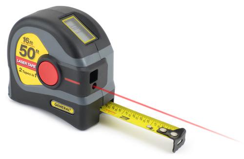 General 2-in-1 Laser Tape Measure, 50 ft. Laser Distance Measure, 16 ft. Tape - LTM1
