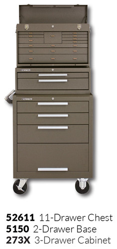 """Kennedy 273X 27"""" 3-Drawer Roller Cabinet Combinations"""