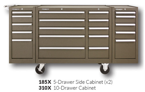 """Kennedy 310X 39"""" 10-Drawer Roller Cabinet Combinations"""