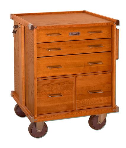 Gerstner International 5-Drawer Roller Cabinet w/ Full Extension Drawer Slides and Collapsible Side Work Shelf - GI-R24
